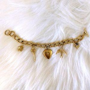 STELLA & DOT Gold Charm Bracelet